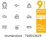 transport collection. expanded... | Shutterstock .eps vector #760013629