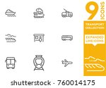 transport collection. expanded... | Shutterstock .eps vector #760014175