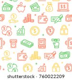 money finance symbols and signs ... | Shutterstock .eps vector #760022209