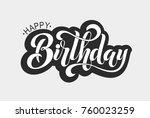 happy birthday typographic... | Shutterstock .eps vector #760023259