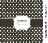 Polka Dot Design  Black Vintag...