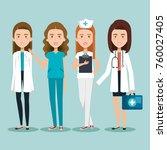 healthcare professionals design   Shutterstock .eps vector #760027405