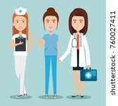 healthcare professionals design | Shutterstock .eps vector #760027411