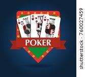 poker card combination royal... | Shutterstock .eps vector #760027459