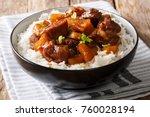 filipino food  belly pork... | Shutterstock . vector #760028194