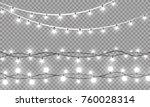 christmas lights isolated on... | Shutterstock .eps vector #760028314
