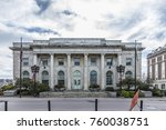 view to historic city hall  in... | Shutterstock . vector #760038751