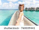 Woman Holding Hand At Maldives...