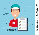 logistic service business icons | Shutterstock .eps vector #760044535