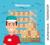warehouse goods service icons | Shutterstock .eps vector #760046539