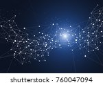 abstract connecting dots and... | Shutterstock .eps vector #760047094