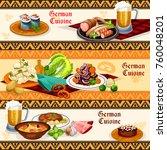 german cuisine restaurant or... | Shutterstock .eps vector #760048201