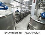 metal tanks  modern production... | Shutterstock . vector #760049224
