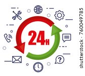 customer service flat settings | Shutterstock .eps vector #760049785