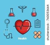 health medicine set icons | Shutterstock .eps vector #760053664