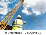 civil engineer people control... | Shutterstock . vector #760054579