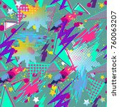 abstract seamless vector... | Shutterstock .eps vector #760063207