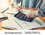 business and finance concept of ... | Shutterstock . vector #760070911