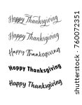happy thanksgiving. vector... | Shutterstock .eps vector #760072351