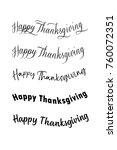 happy thanksgiving. vector... | Shutterstock .eps vector #760072351