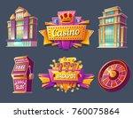 casino buildings  signboards ...   Shutterstock .eps vector #760075864