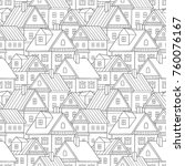 seamless vector pattern with... | Shutterstock .eps vector #760076167