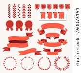 vector collection of decorative ... | Shutterstock .eps vector #760076191