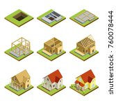 stages of countryside house... | Shutterstock .eps vector #760078444