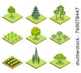 public park decorative trees... | Shutterstock .eps vector #760078447