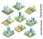 modern downtown isometric 3d... | Shutterstock .eps vector #760078459