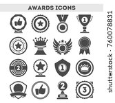champion awards of different... | Shutterstock .eps vector #760078831