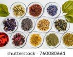 beautiful color herbal tea | Shutterstock . vector #760080661