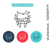 ultrasonic cleaning icon.... | Shutterstock .eps vector #760083979