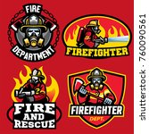 various fire department badge...