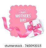 happy mothers day. vector...   Shutterstock .eps vector #760093015