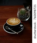 coffee latte art in coffee shop ... | Shutterstock . vector #760098721