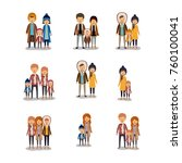 winter people colorful... | Shutterstock .eps vector #760100041