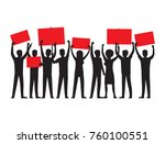 group of people of both sexes... | Shutterstock .eps vector #760100551