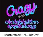 crazy color 3d alphabet vector...   Shutterstock .eps vector #760105099