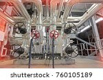equipment  cables and piping as ... | Shutterstock . vector #760105189