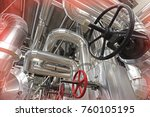 equipment  cables and piping as ... | Shutterstock . vector #760105195