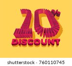 10  discount form by shopping... | Shutterstock .eps vector #760110745