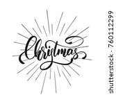 christmas. christmas text... | Shutterstock .eps vector #760112299