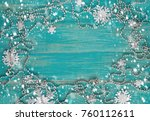 christmas composition with... | Shutterstock . vector #760112611