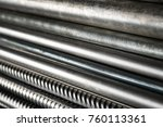 metal pipes and rods. steel... | Shutterstock . vector #760113361
