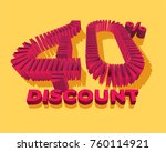 40  discount form by shopping... | Shutterstock .eps vector #760114921