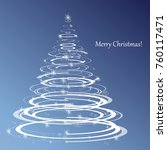merry christmas   happy new... | Shutterstock .eps vector #760117471