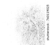 black grainy texture isolated... | Shutterstock .eps vector #760119025