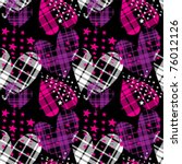 Seamless Checkered Hearts With...