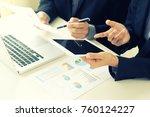business businessman in meeting ... | Shutterstock . vector #760124227